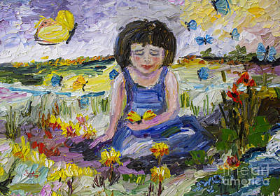 You Will Find Me By The Brook Where The Butterflies Live 2 Print by Ginette Callaway