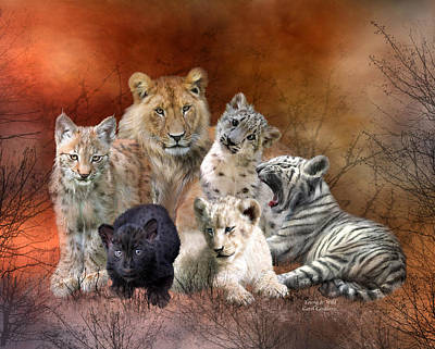 Lion Mixed Media - Young And Wild by Carol Cavalaris