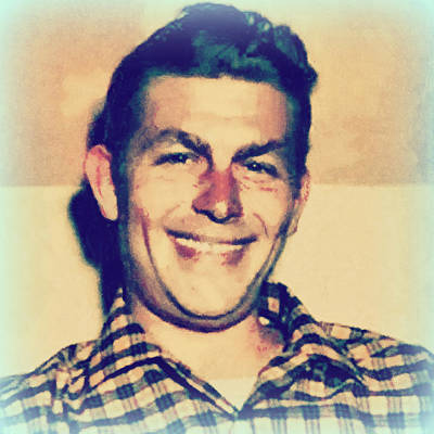 Young Andy Griffith Print by Paulette B Wright