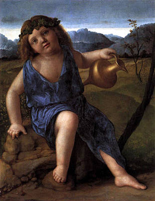 Gods And Goddesses Painting - Young Bacchus Dionysus Giovanni Bellini 1514 by Karon Melillo DeVega