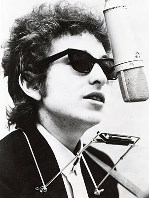 Harmonica Photograph - Young Bob Dylan by Retro Images Archive