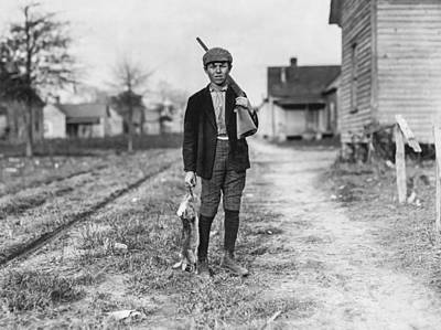 Rabbit Hunting Photograph - Young Boy Hunting Rabbits by Aged Pixel