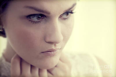 Eye Photograph - Young Elegant Woman In Glamour Fashion by Michal Bednarek