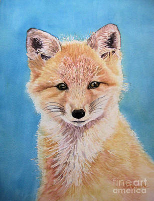 Fox Kit Painting - Young Fox by Diane Marcotte