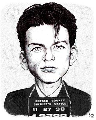 Frank Sinatra Drawing - Young Frank Busted by Vince Plzak
