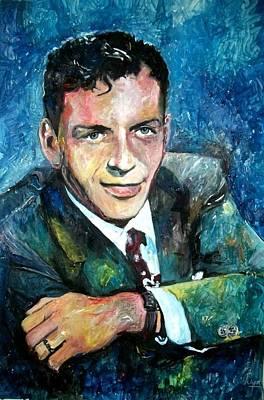 Frank Sinatra Mixed Media - Young Frank Sinatra by Marcelo Neira