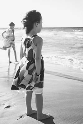 Young Girls At The Beach  Varadero, Cuba Print by David Chapman