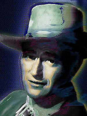 Icon Mixed Media - Young John Wayne Pop 1 by Tony Rubino