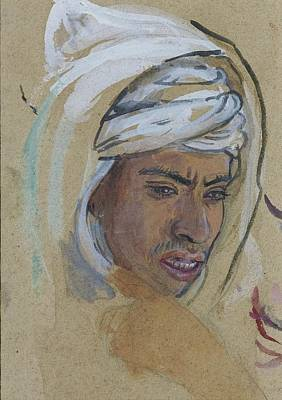 With Prayer Painting - Young Man With A Burnous by Celestial Images