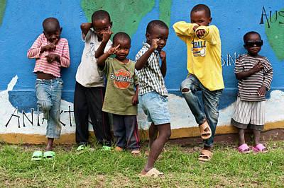 Young Masai Boys Print by Matthew Oldfield