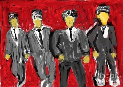 Noir Digital Art - Young Men by Bobby Nelson