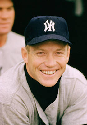 Baseball Uniform Photograph - Mickey Mantle Smile by Retro Images Archive