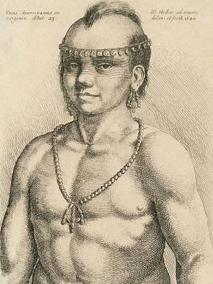 Young Native American Man Print by Library Of Congress