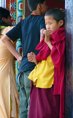 Young Tibetan Monk Print by Dagmar Batyahav