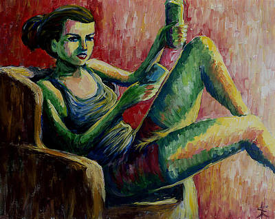 Young Woman Print by Erki Schotter