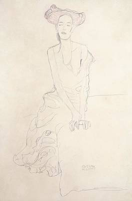 Klimt Drawing - Young Woman by Gustav Klimt