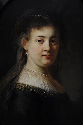 Young Woman In Fantasy Costume, 1633, By Rembrandt 1606-1669 Print by Bridgeman Images