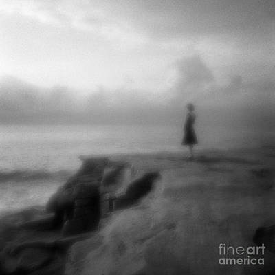 Pinhole Photograph - Young Woman On Cliff In Early Morning by Colin and Linda McKie