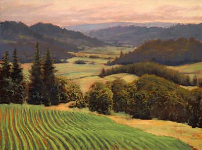 Youngberg Hill Vineyard Print by Michael Orwick