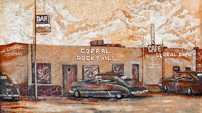 Young's Corral - Holbrook Az - Route 66 - The Mother Road Print by Christine Till