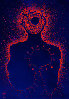 Your Aura During The Night Print by Paul Petroniu