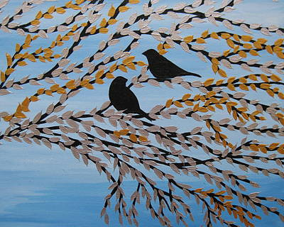 Finch Painting - Your Company by Cathy Jacobs
