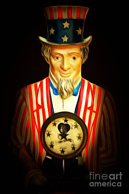 Uncle Sam Digital Art - Your Fortune Be Told By Uncle Sam Fortune Machine 7d14405 201502 by Wingsdomain Art and Photography
