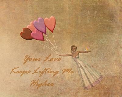 Your Love Keeps Lifting Me Higher Print by David Dehner