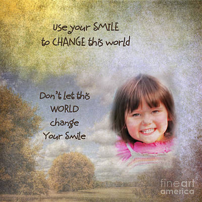 Your Smile Print by Pamela Baker