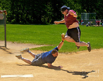 Softball Photograph - You're Out by Mark Miller