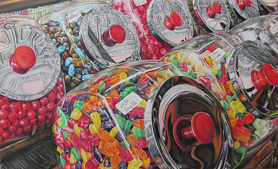Reflective Drawing - You're Thinking About Candy Now. by Tara Aguilar