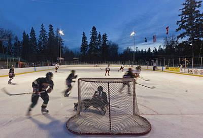 Hockey Games Photograph - Youth Hockey Action At Woodland Park by Chuck Haney