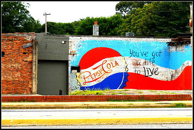 You've Got A Life To Live Pepsi Cola Wall Mural Print by Kathy Barney