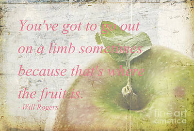 Will Rogers Photograph - You've Got To Go Out On A Limb by Edward Fielding