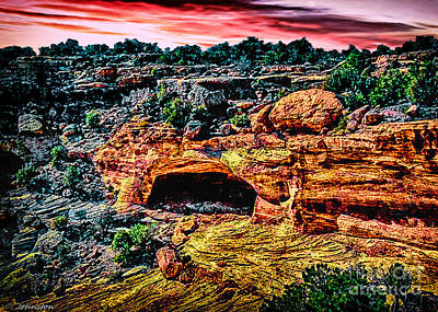 Whitehouse Digital Art - Yucca Cave Canyon Dechelly by Bob and Nadine Johnston