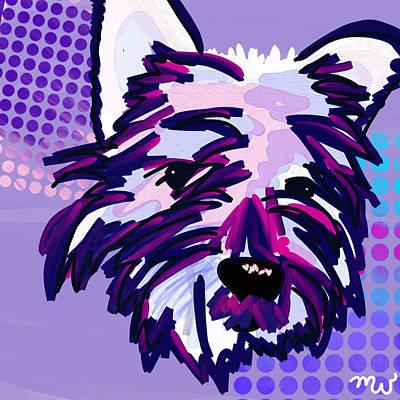 Pup Digital Art - Yuki by Mellisa Ward