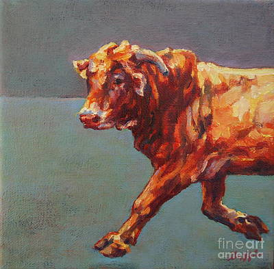 Steer Painting - Yuma by Patricia A Griffin