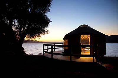 Yurts Photograph - Yurt On Lake Cachuma by Jenna Szerlag