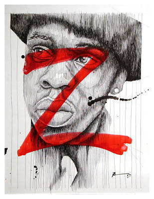 Jay Z Drawing - Z by Frank Papandrea
