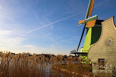 Zaanse Schans Dutch Windmill Print by Jan Brons