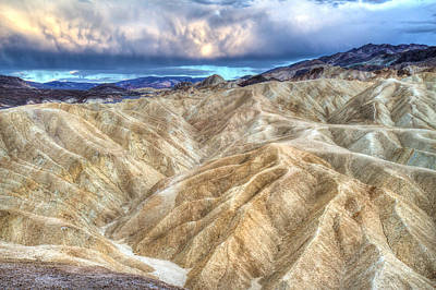 Zabriskie Mountains In Death Valley Print by Pierre Leclerc Photography