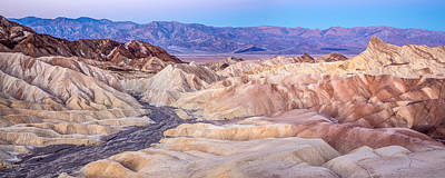 Zabriskie Point At Dawn In Death Valley Print by Pierre Leclerc Photography