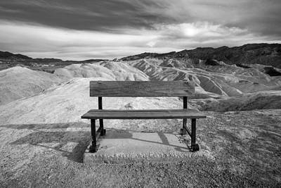 Zabriskie's Bench Print by Peter Tellone