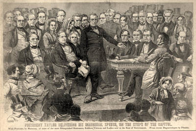 Swearing In Photograph - Zachary Taylor. Inauguration Of Zachary by Everett