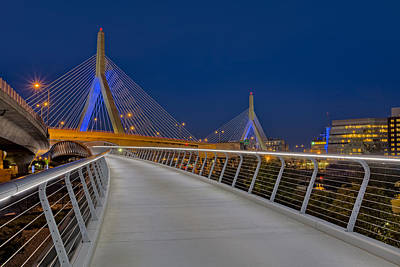 Zakim Bridge Print by Susan Candelario