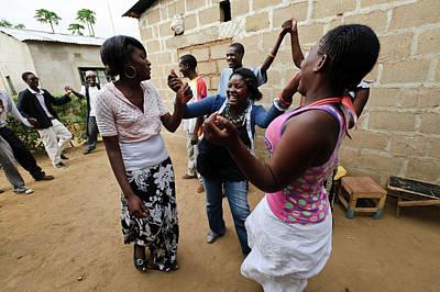 Troupe Photograph - Zambian Theatre Group by Matthew Oldfield