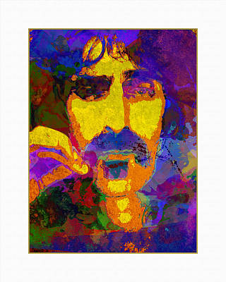Graphic Digital Art Painting - Zappa by Gary Grayson