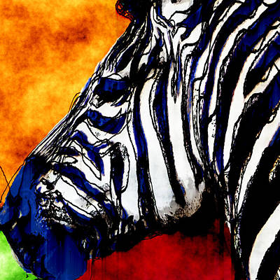 Zebra Digital Art - Zebra Abstract 2 by David G Paul