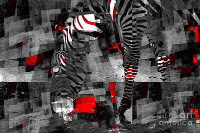 Photograph - Zebra Art - 56a by Variance Collections