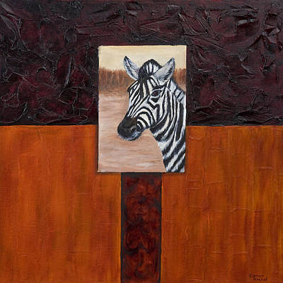 Double Image Painting - Zebra by Darice Machel McGuire